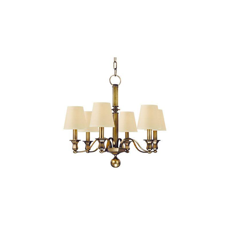 Hudson Valley Lighting 1416 Charlotte 6 Light Chandelier Aged Brass