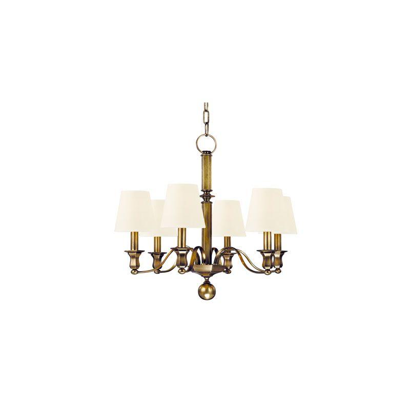 Hudson Valley Lighting 1416 Charlotte 6 Light Chandelier Aged Brass /