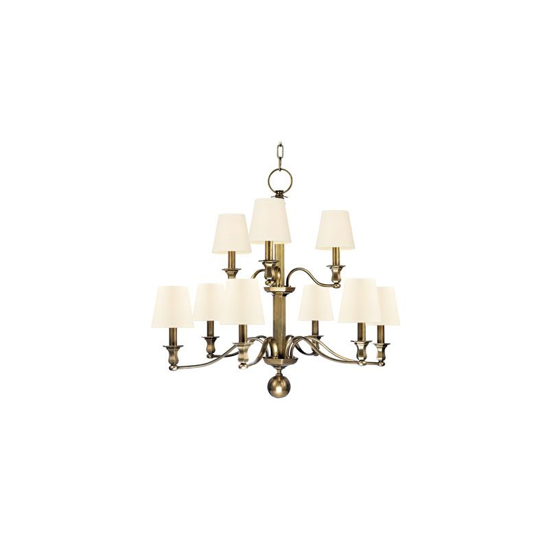 Hudson Valley Lighting 1419 Charlotte 9 Light Chandelier Aged Brass /