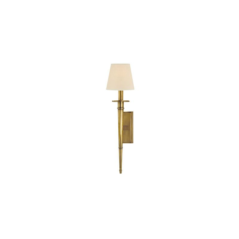 Hudson Valley Lighting 220 Stanford 1 Light Wall Sconce Aged Brass