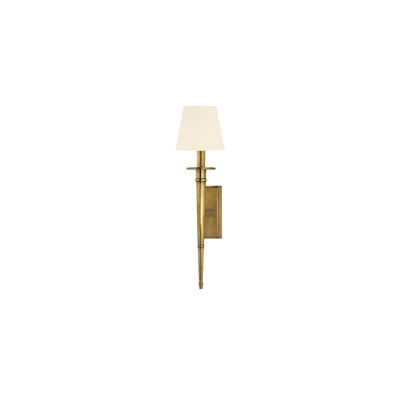 Hudson Valley Lighting 220 Stanford 1 Light Wall Sconce Aged Brass /