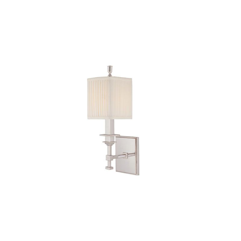 Hudson Valley Lighting 241 Berwick 1 Light Wall Sconce Polished Nickel