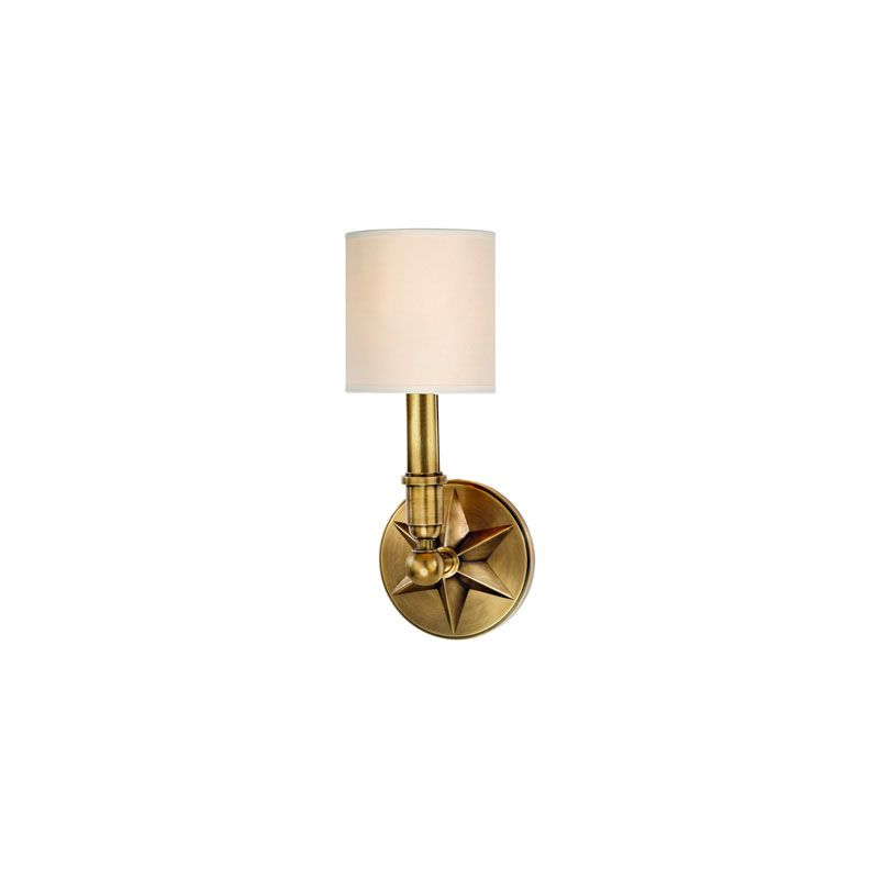 Hudson Valley Lighting 4081 Bethesda 1 Light Wall Sconce Aged Brass