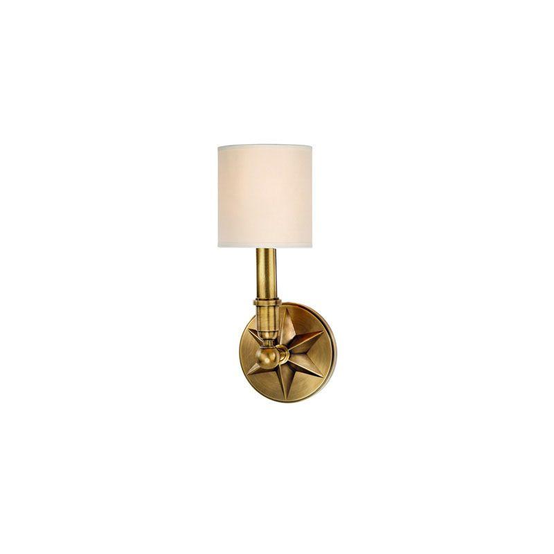 Hudson Valley Lighting 4081 Bethesda 1 Light Wall Sconce Aged Brass