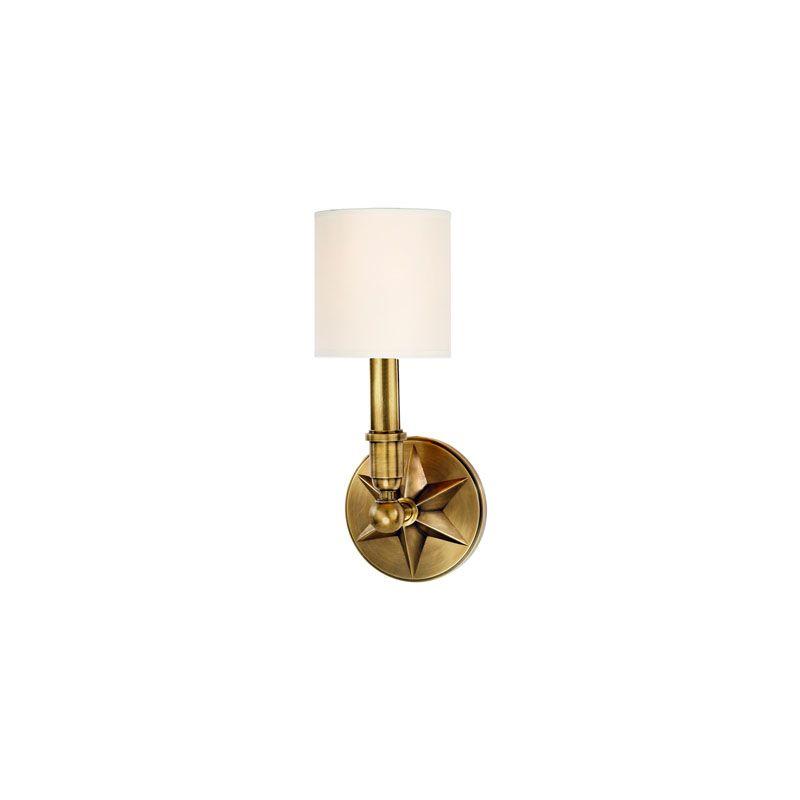 Hudson Valley Lighting 4081 Bethesda 1 Light Wall Sconce Aged Brass /