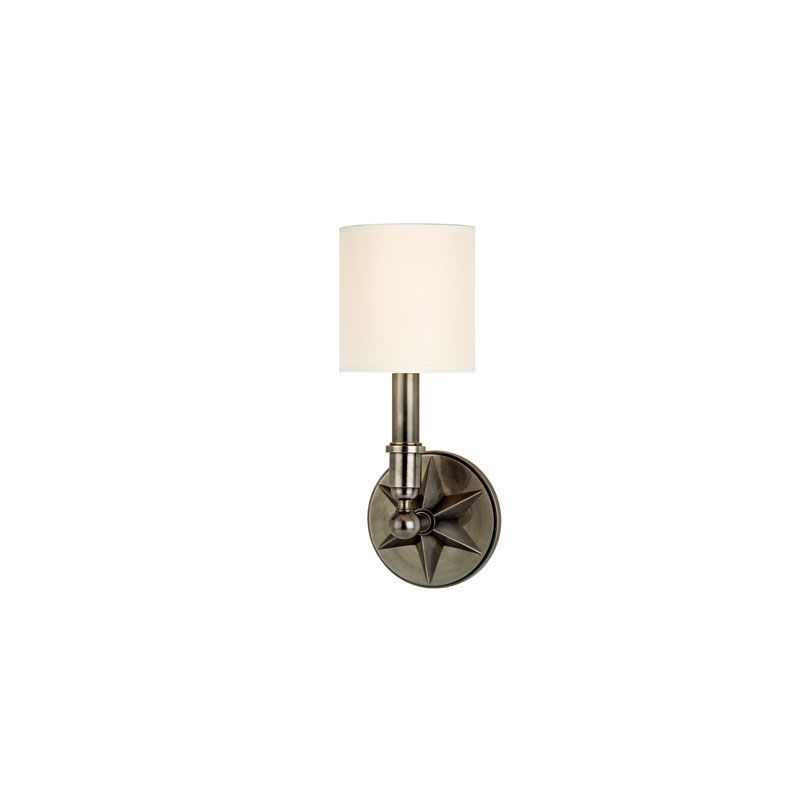 Hudson Valley Lighting 4081 Bethesda 1 Light Wall Sconce Aged Silver /