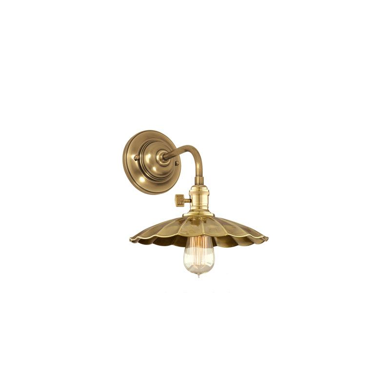 Hudson Valley 8000-AGB-MS3 Aged Brass Industrial Heirloom Wall Sconce