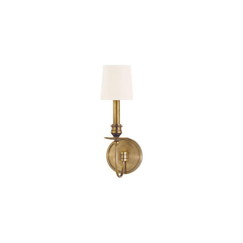 Hudson Valley Lighting 8211 Cohasset 1 Light Cast Brass Wall Sconce