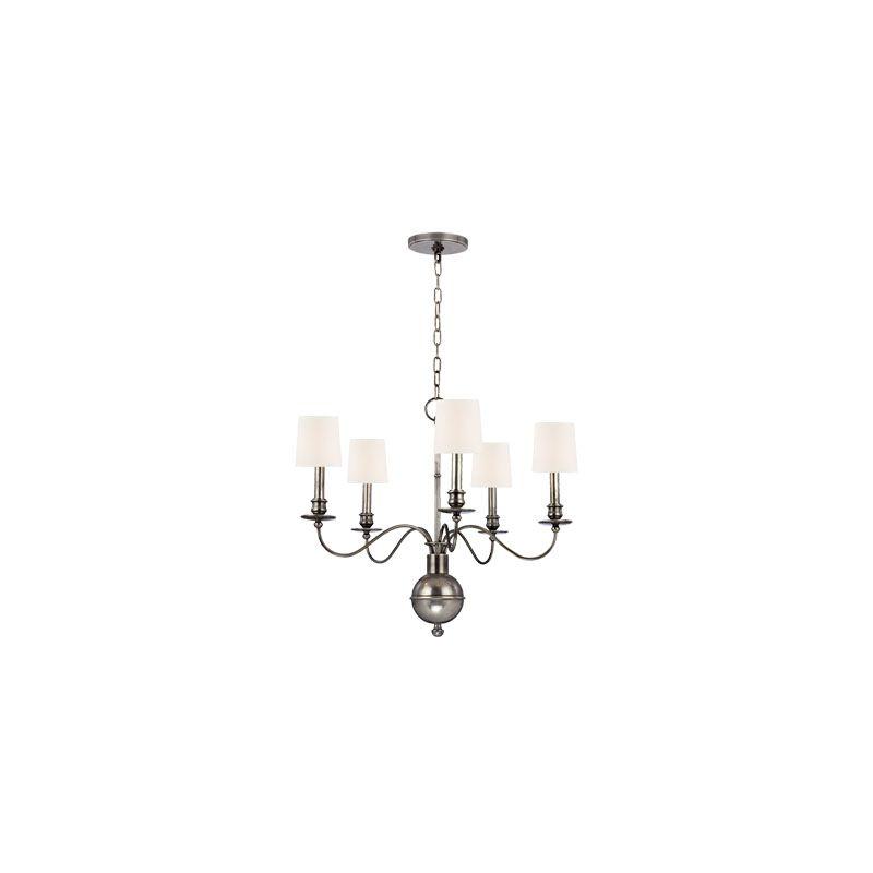 Hudson Valley Lighting 8215 Cohasset 5 Light Chandelier Aged Silver /