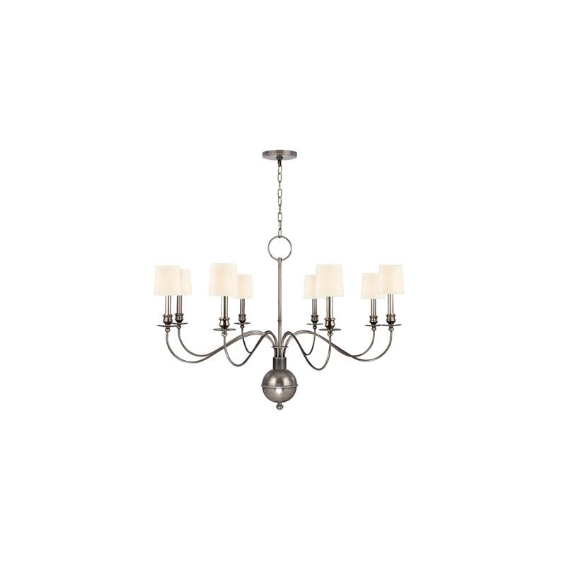 Hudson Valley Lighting 8218 Cohasset 8 Light Chandelier Aged Silver /