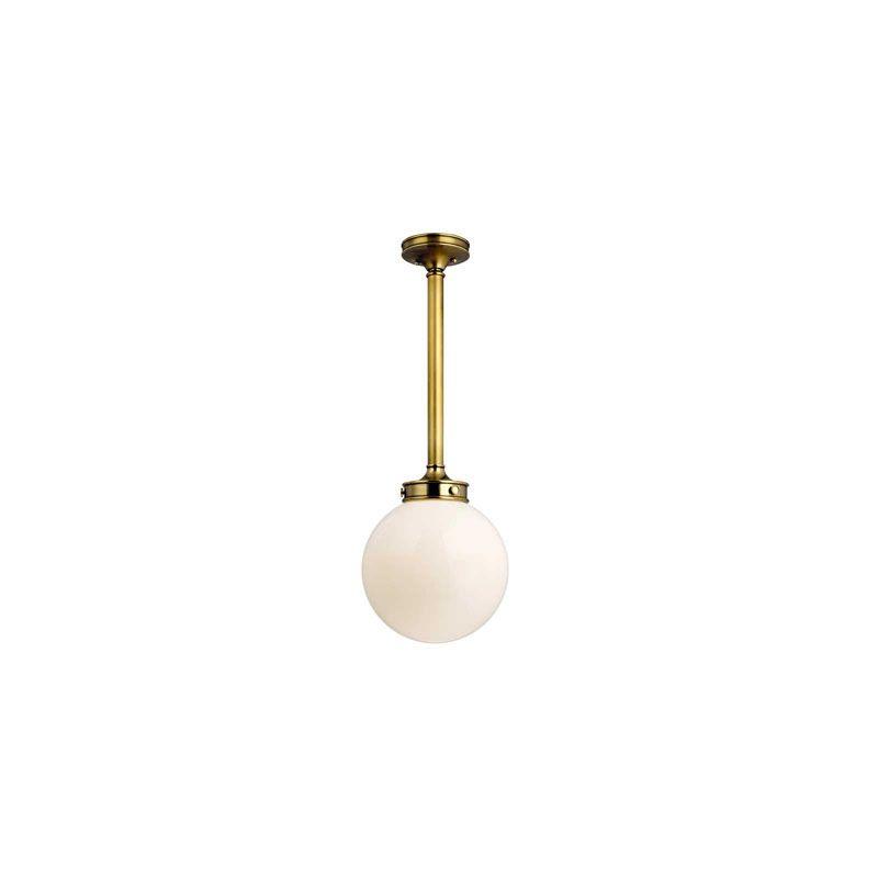 Hudson Valley Lighting 8814 Concord 1 Light Pendant Aged Brass Indoor