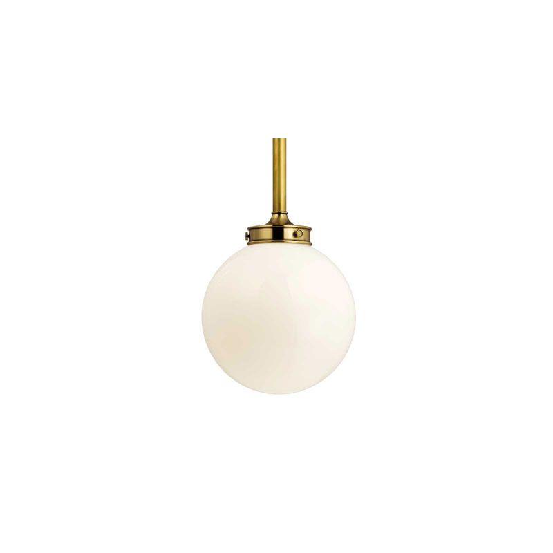 Hudson Valley Lighting 8817 Concord 1 Light Pendant Aged Brass Indoor