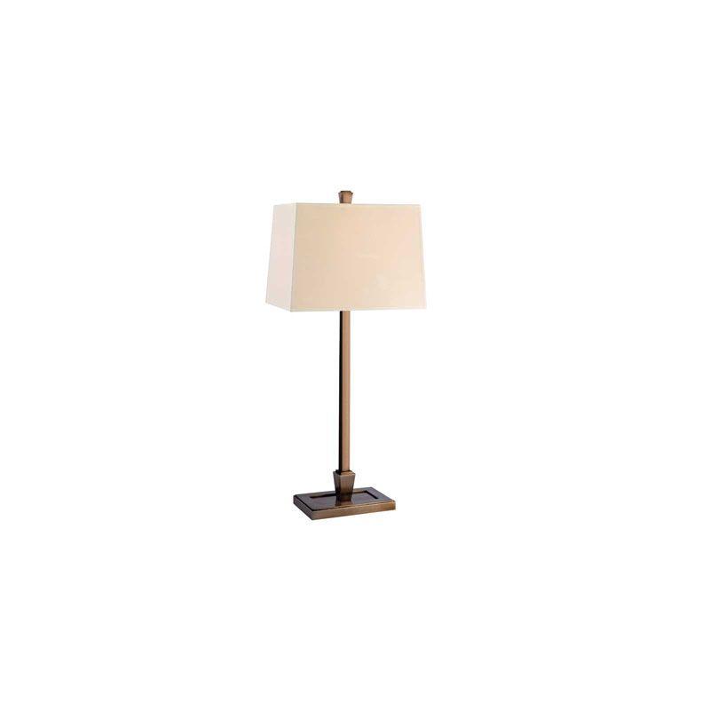 Hudson Valley Lighting L227 Burke 1 Light Table Lamp Brushed Bronze