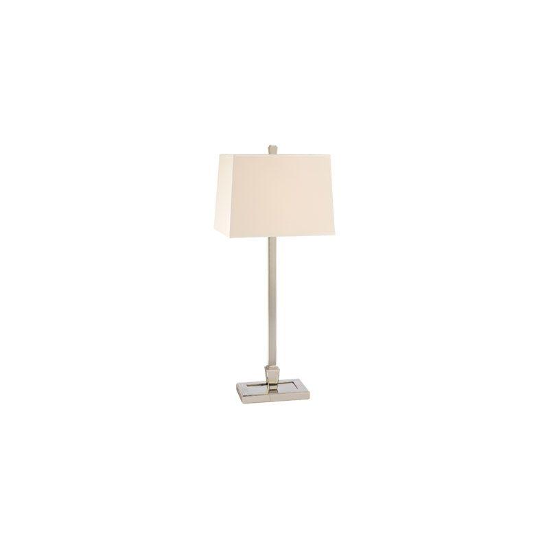 Hudson Valley Lighting L227 Burke 1 Light Table Lamp Polished Nickel