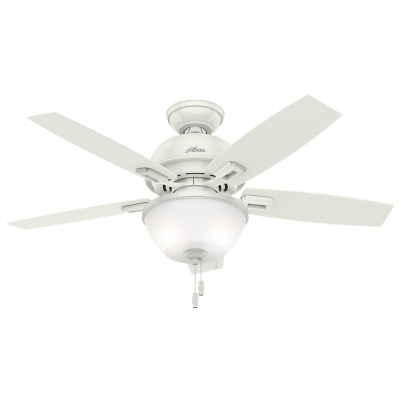 "Hunter Donegan 44 Bowl 44"" Ceiling Fan - 5 Reversible Blades and LED"