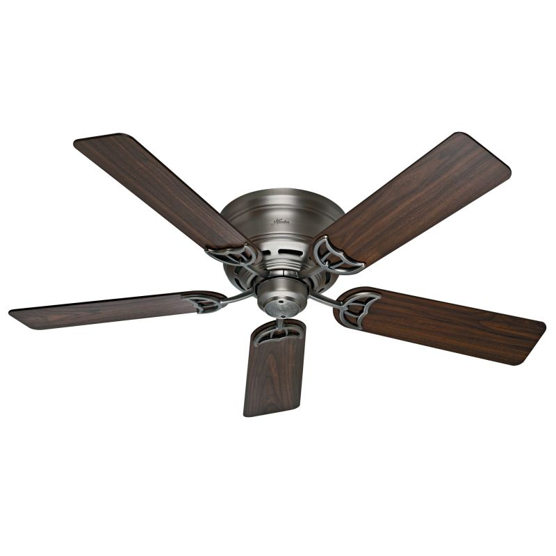 "Hunter Low Profile 52 52"" Flush Mount Indoor Ceiling Fan - 5 Sale $89.00 ITEM: bci2720593 ID#:53071 UPC: 49694530714 :"
