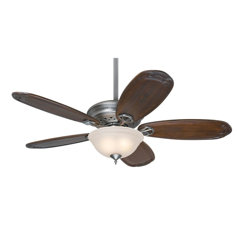 """Hunter Teague 54"""" Indoor Ceiling Fan - 5 Blades and Light Kit Included"""