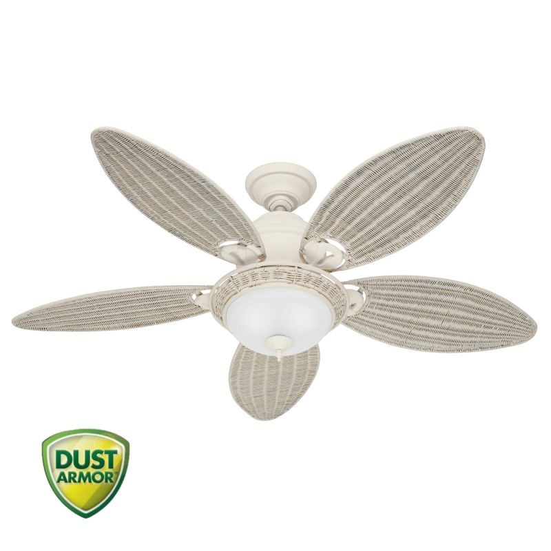 "Hunter Caribbean Breeze 54"" Indoor Ceiling Fan - 5 Blades and Light"