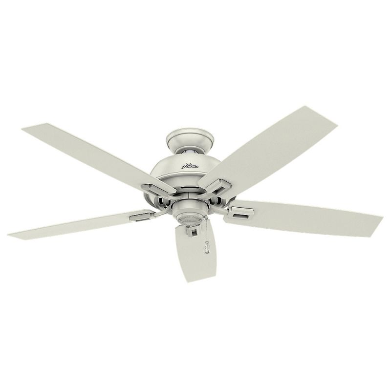 "Hunter Donegan 52 Damp 52"" Outdoor Ceiling Fan - 5 Reversible Blades"
