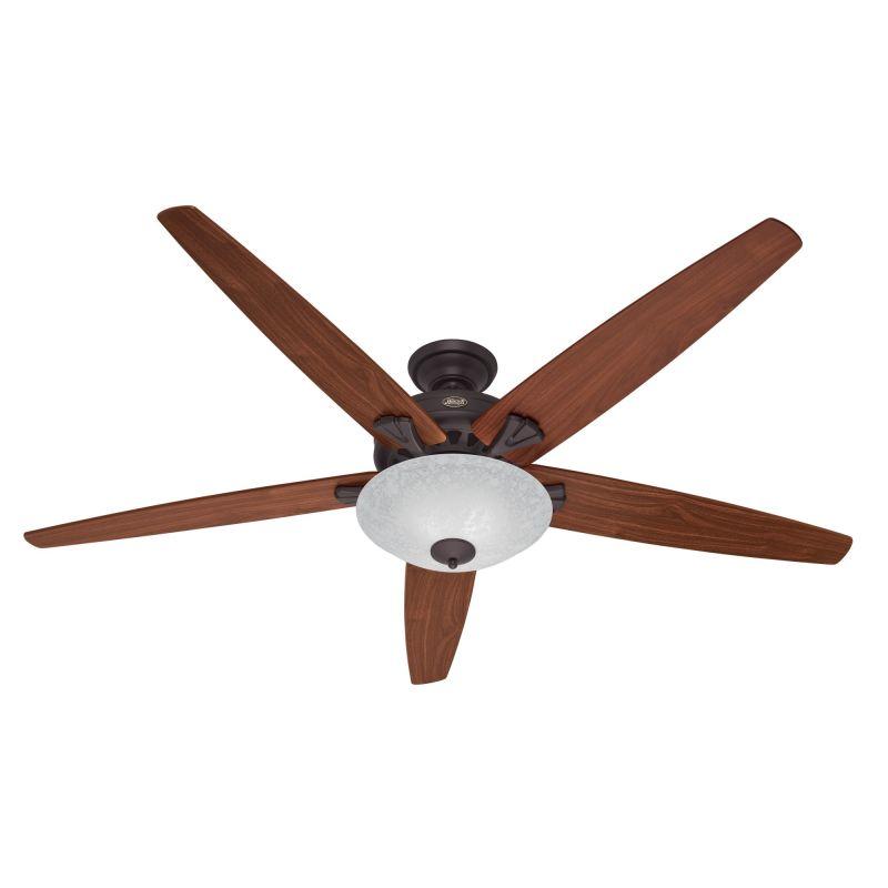 "Hunter Stockbridge 70"" Indoor Ceiling Fan - 5 Reversible Blades and"