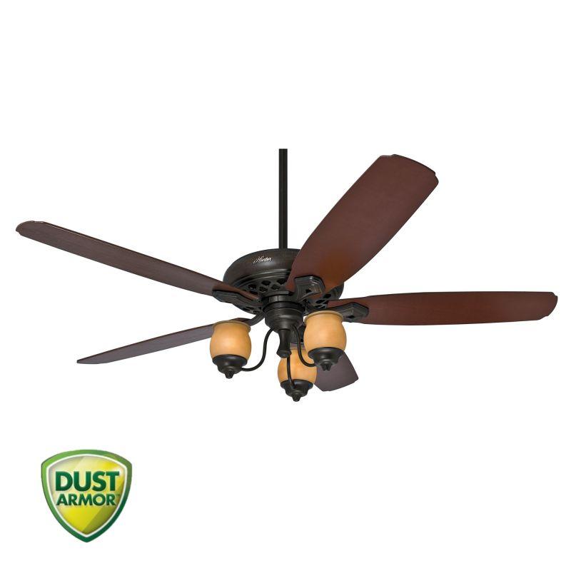 "Hunter Torrence 64"" Indoor Ceiling Fan - 5 Reversible Blades Light"