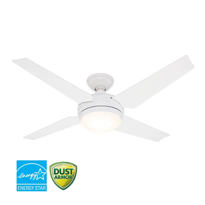 """Hunter Sonic 52"""" Energy Star Rated Indoor Ceiling Fan - 4 Reversible"""