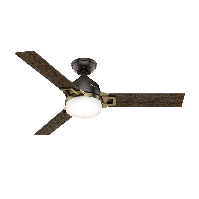 """Hunter Leoni 48"""" Indoor Ceiling Fan - Remote Control and LED Light Kit"""