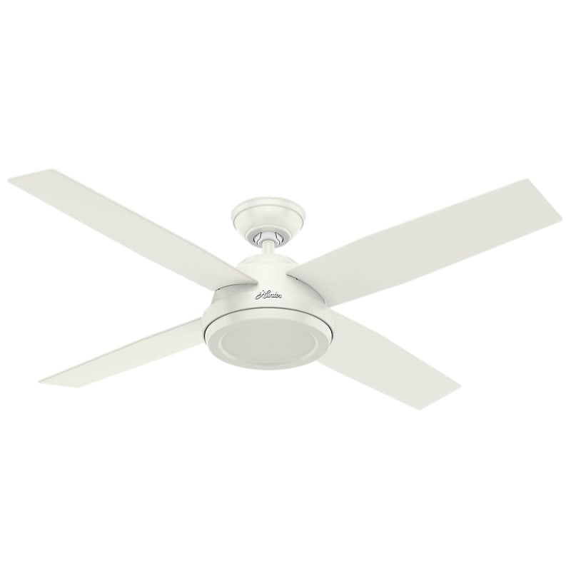 "Hunter Dempsey 52 52"" Indoor Ceiling Fan - 4 Reversible Blades and"