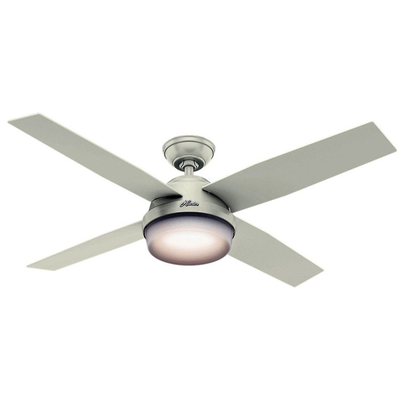 "Hunter Dempsey 52 Damp 52"" Outdoor Ceiling Fan - 4 Reversible Blades"