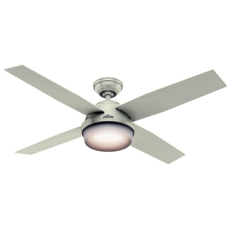 "Hunter Dempsey 52 Damp 52"" Outdoor Ceiling Fan - 4 Reversible Blades"