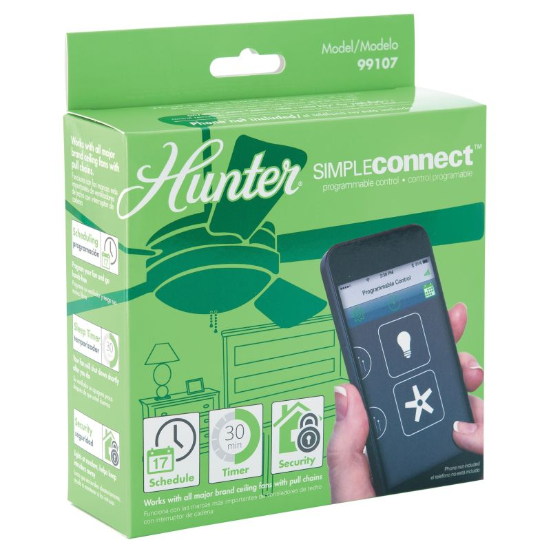 Hunter 99107 SimpleConnect Programmable Bluetooth Fan Control NA