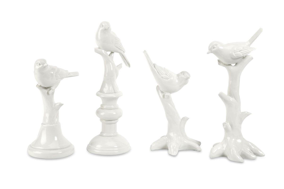 IMAX Home 10330-4 IK Bird Statuary - Set of 4 Home Decor Statues &