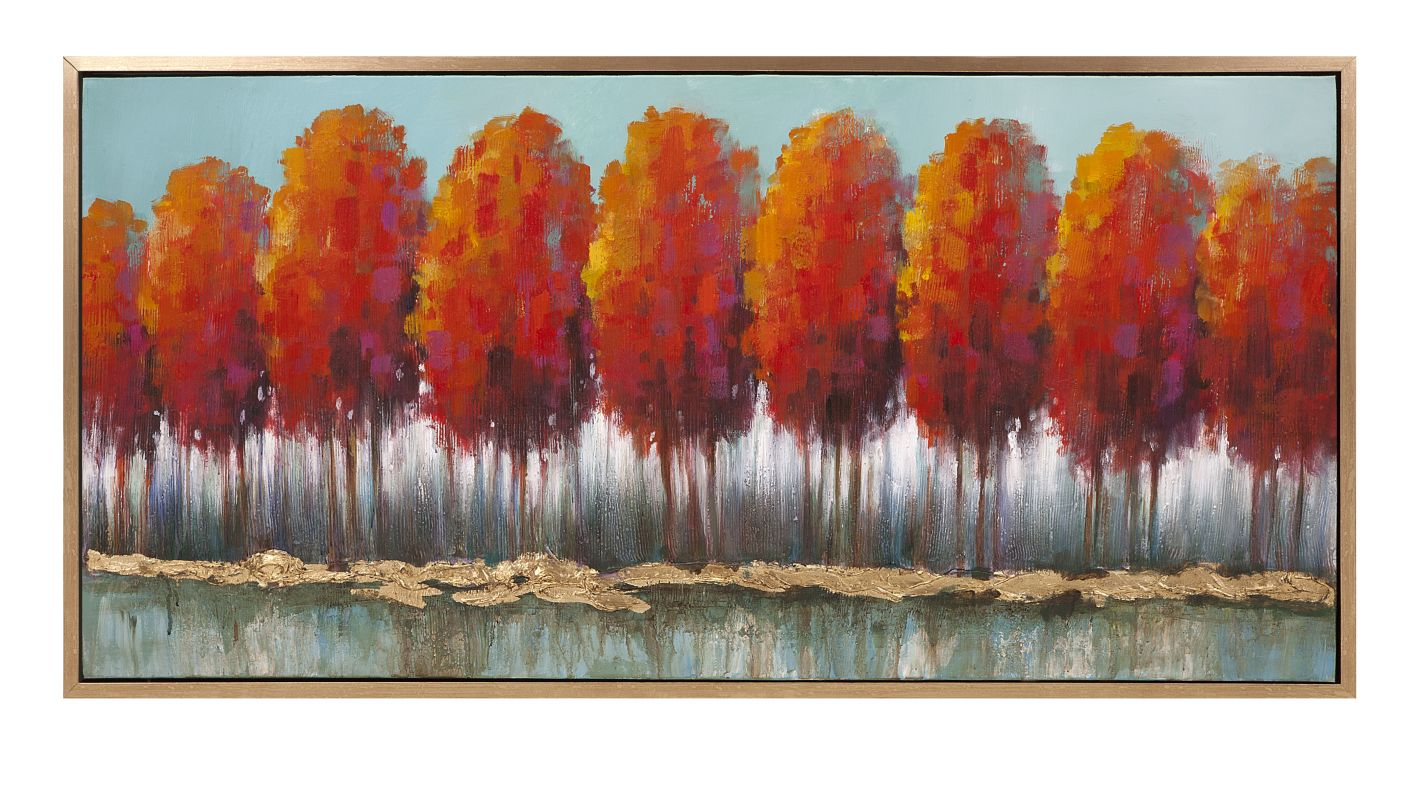 "IMAX Home 11507 27.75"" x 55.25"" Autumn Row Oil On Canvas With Frame"
