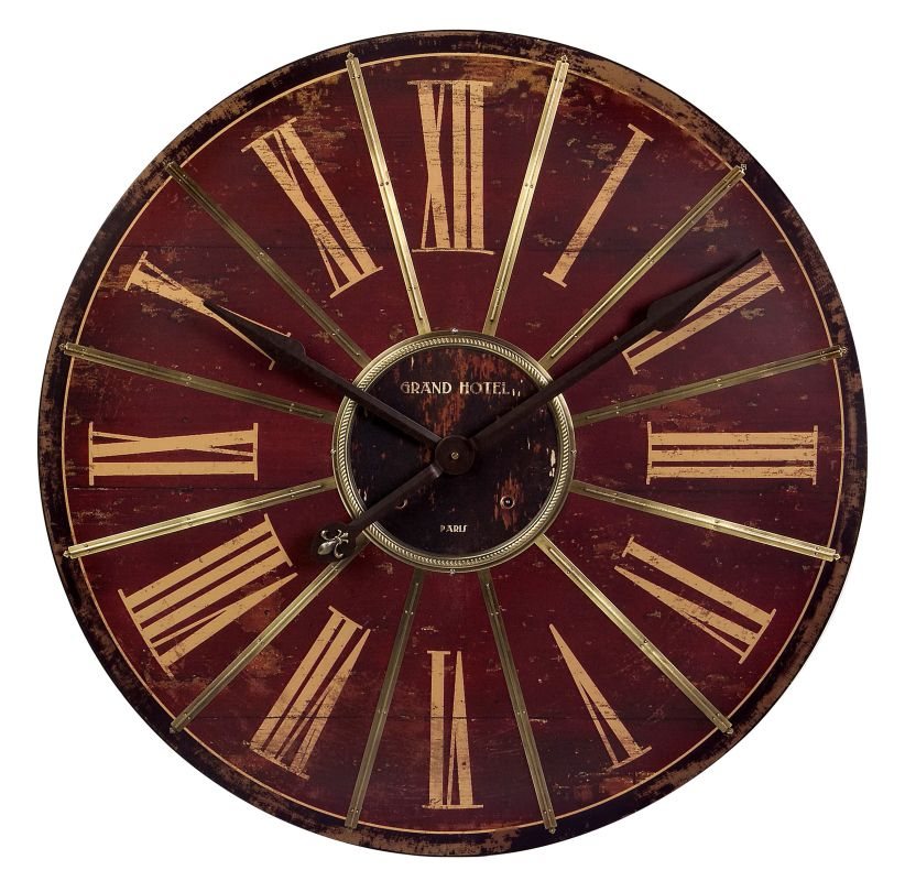 "IMAX Home 16077 29.25"" Large Red Wall Clock Home Decor Wall Clocks"