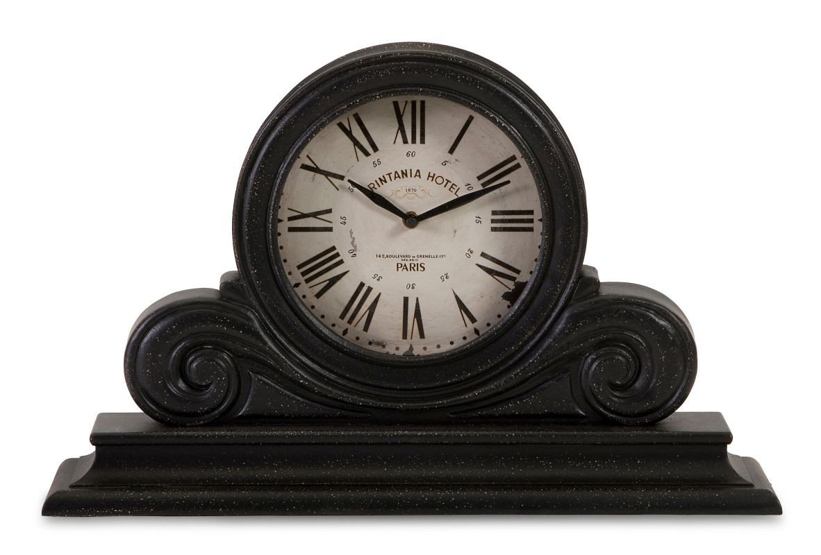 IMAX Home 16130 Black Mantle Clock Home Decor Desk Clocks