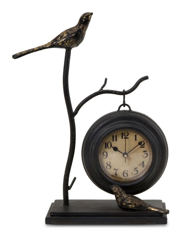 IMAX Home 16159 Bird and Branch with Hanging Clock Home Decor Desk