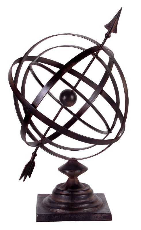 """IMAX Home 1662 17.5"""" Height Armillary Statue Home Decor Statues &"""