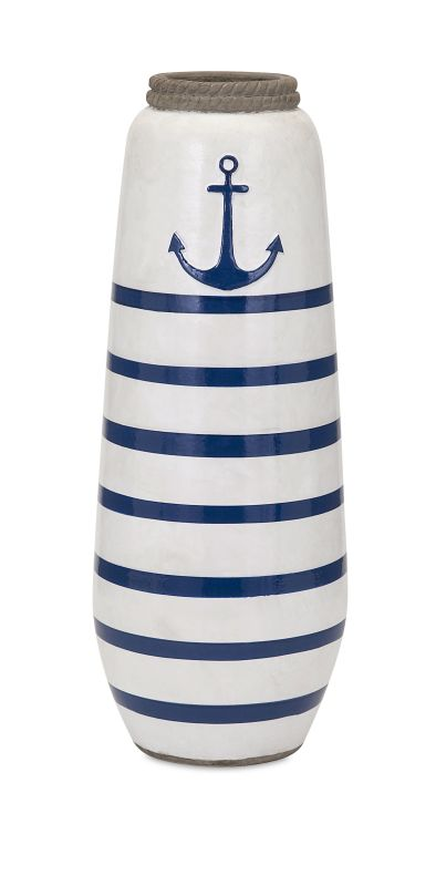 IMAX Home 18261 Anchor Large Hand painted Vase Home Decor Vases