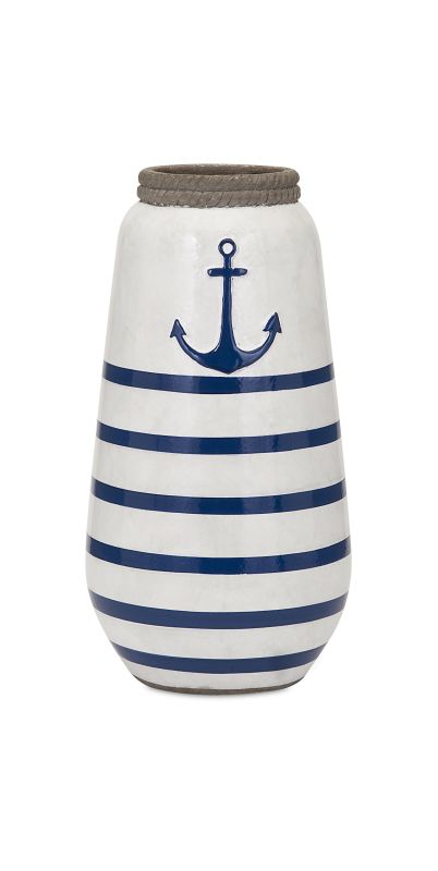 IMAX Home 18262 Anchor Small Hand painted Vase Home Decor Vases