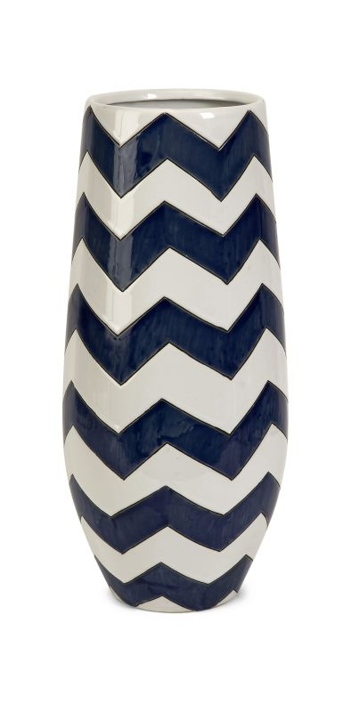 IMAX Home 25103 Chevron Short Vase Home Decor Vases