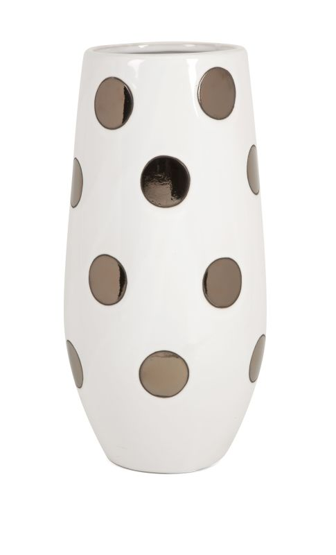 IMAX Home 25212 Metallic Polka Dot Vase Home Decor Vases