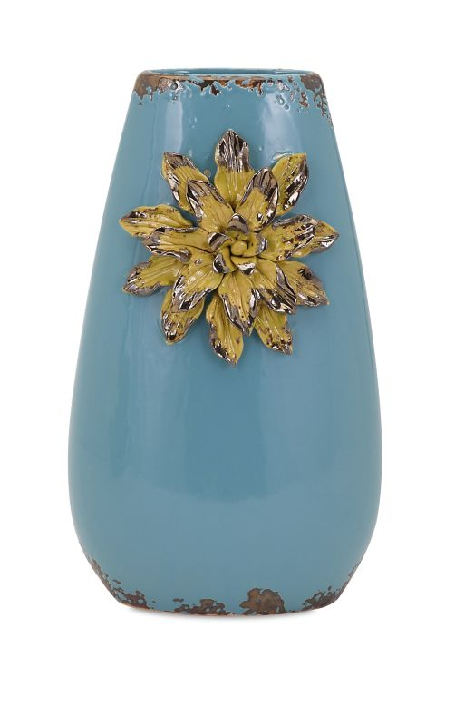 IMAX Home 25306 Kimber Flower Vase - Tall Home Decor Vases