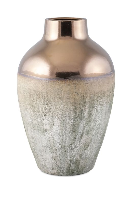 IMAX Home 25308 Hargrove Metallic Top Vase - Large Home Decor