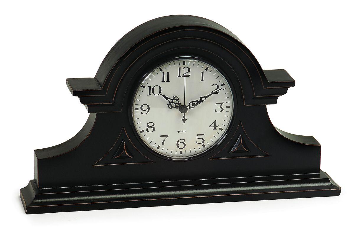 IMAX Home 2631 Black Mantel Clock Home Decor Desk Clocks