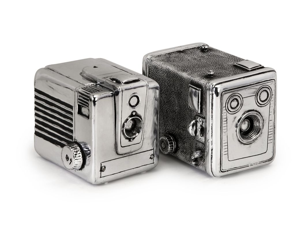 IMAX Home 36130-2 Vintage Camera Boxes - Set of 2 Home Decor Boxes