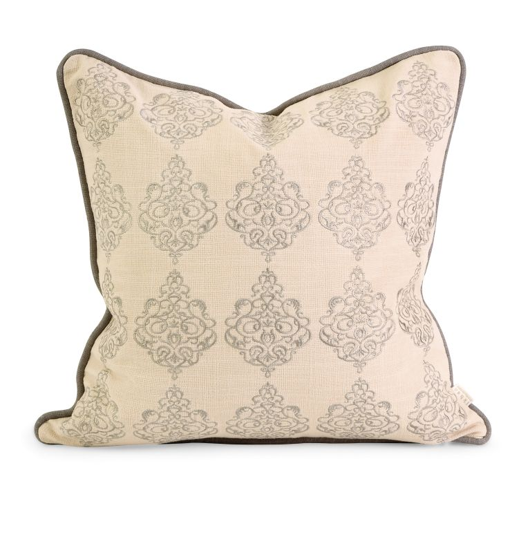 IMAX Home 42173 IK Adisa Embroidered Pillow with Down Fill Home