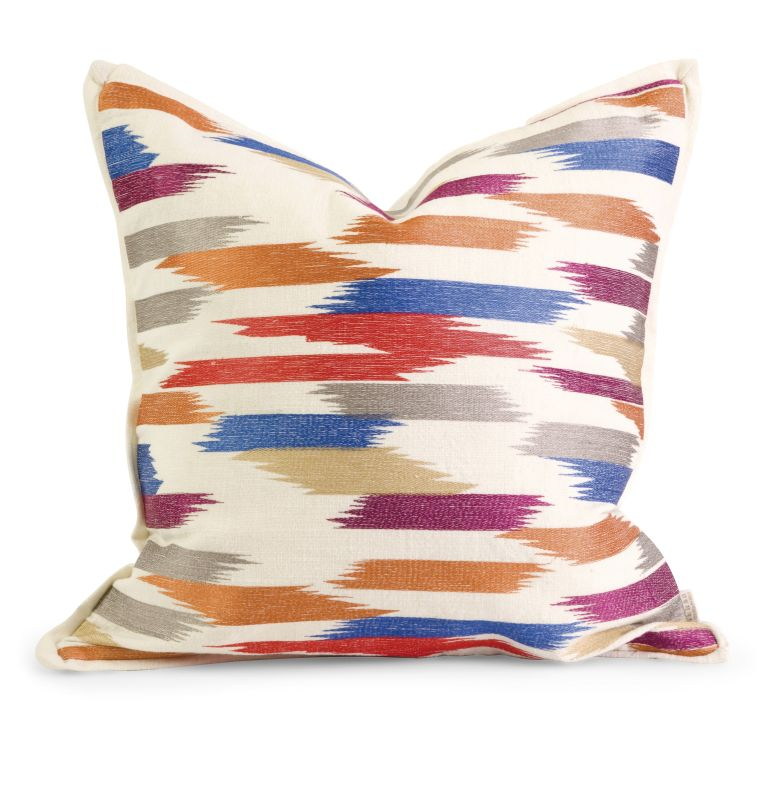 IMAX Home 42180 IK Naledi Embroidered Pillow with Down Fill Home