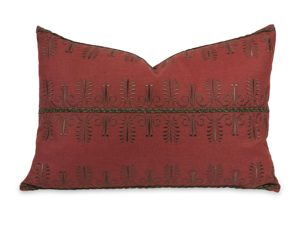 IMAX Home 42194 IK Arezo Beaded Embroidery Pillow with Down Insert N/A