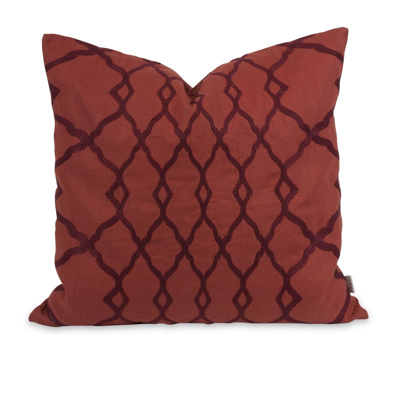 IMAX Home 42200 IK Dyani Embroidered Pillow with Down Insert Home