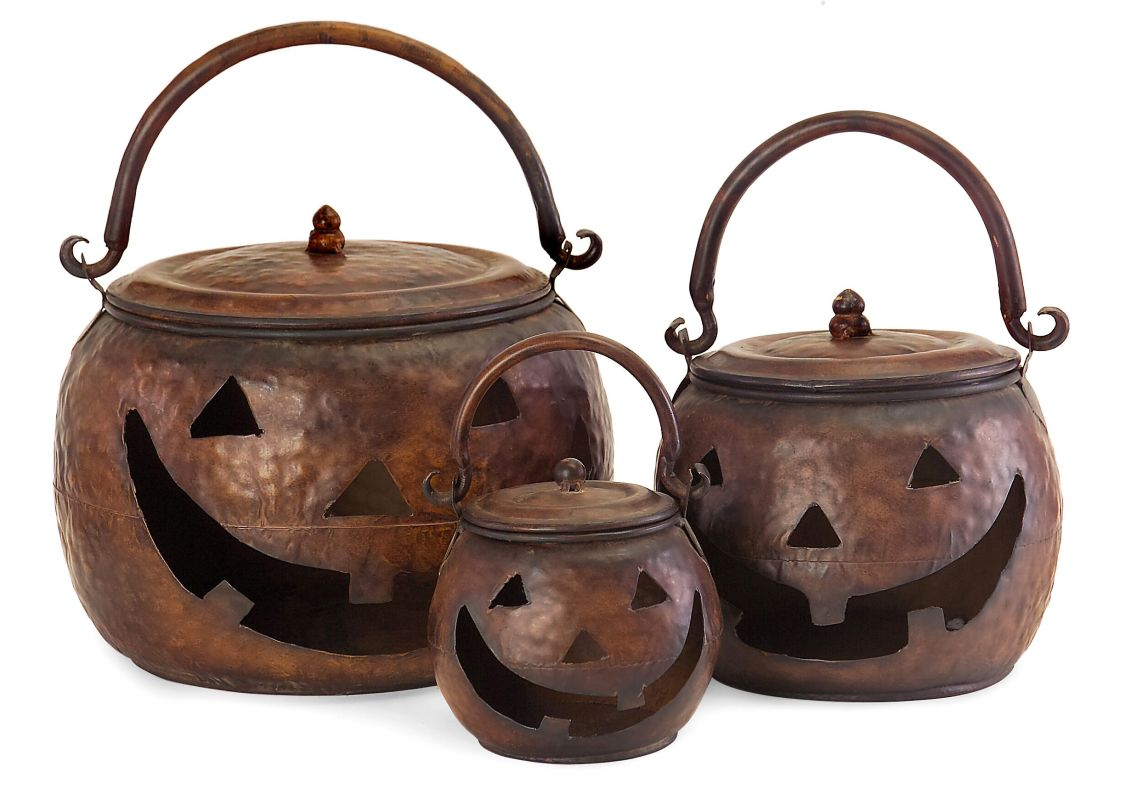 IMAX Home 4628-3 Lidded Pumpkins - Set of 3 Home Decor
